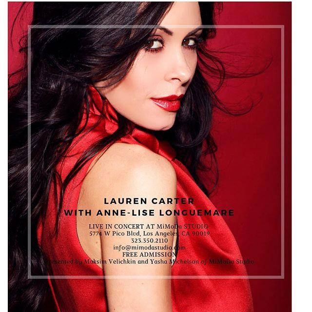 👻 HALLOWEEN CONCERT 👻 Lauren Carter live at MiMoDa Studio 10/31/18.  8:00 PM 5774 W Pico Blvd, Los Angeles, CA 90019 323.350.2110 info@mimodastudio.com FREE ADMISSION