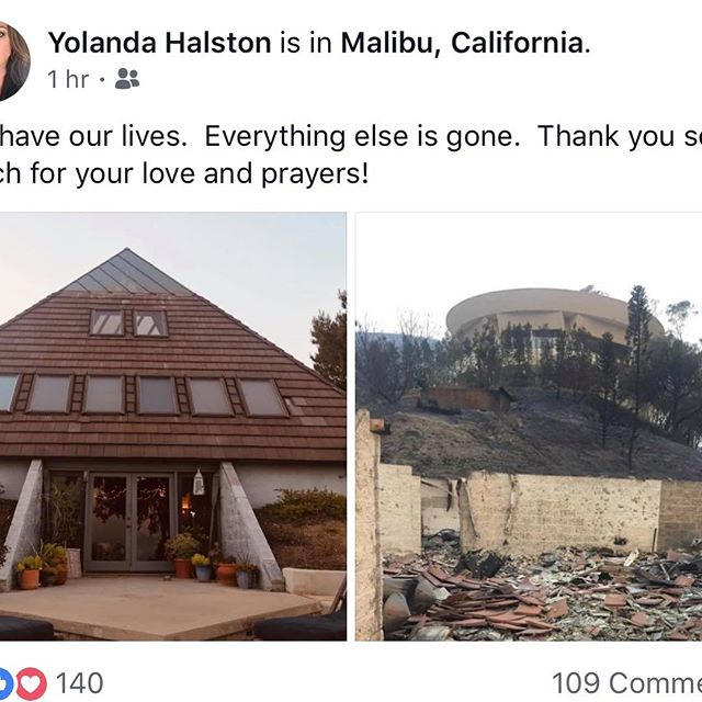 To my fans: @yolandahalston the makeup artist responsible for the look on my American Dream EP and many of my top men's magazine shoots has lost her Malibu home in the #woolseyfire. I'm sharing posts from Yolanda and Rodger Halston as well as pics of the amazing hair and makeup she has provided over the years helping me create my image and art which I share with all of you. Rodger has in his own words swallowed his pride and created a Go Fund Me. This talented family with two children and several pets will flourish but today is a time of devastating loss. https://www.gofundme.com/ta45z-fire-relief-fund