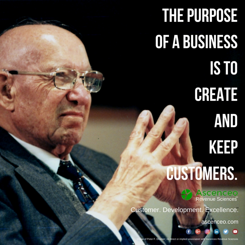 Peter Drucker on the purpose of a business