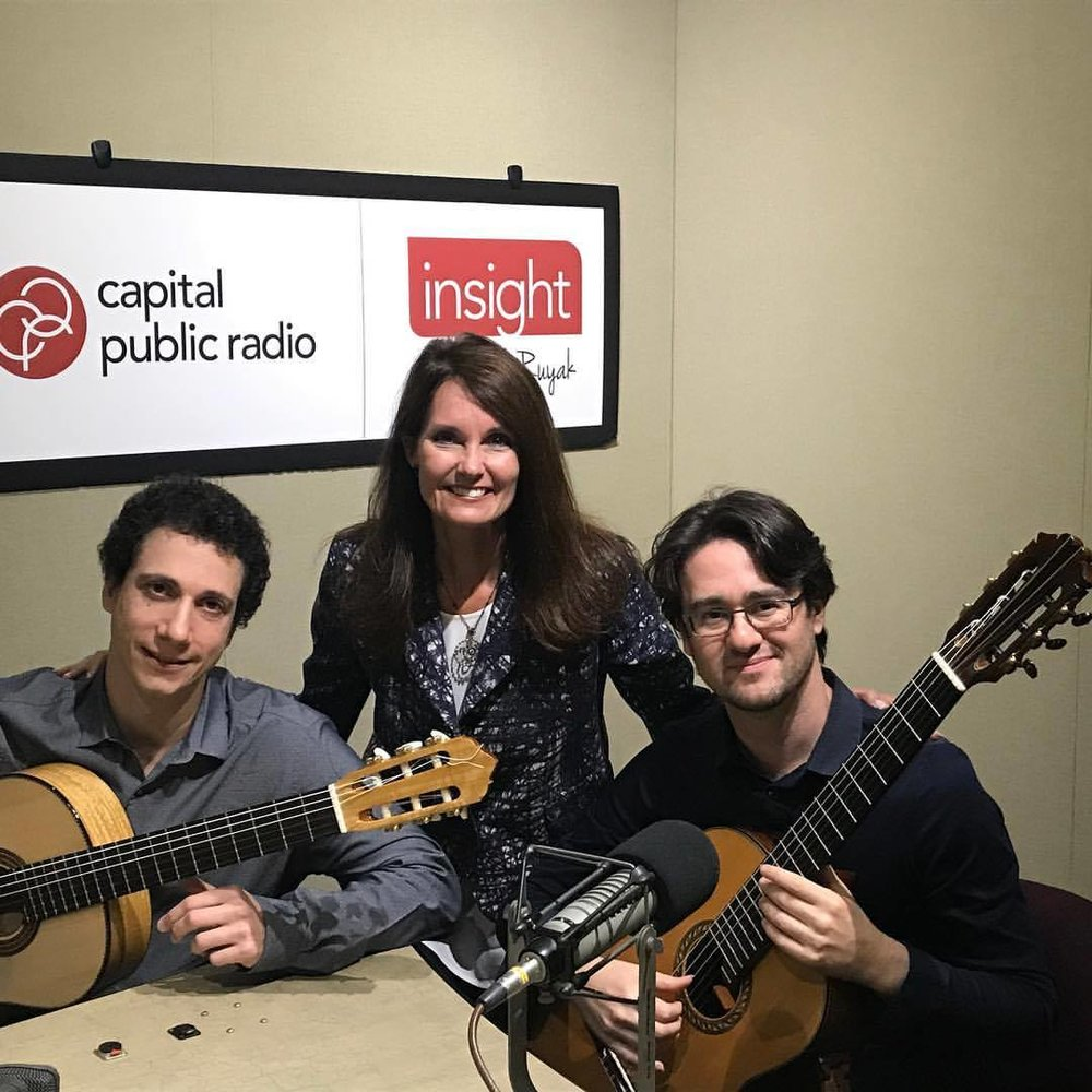 With Grisha Goryachev and host Beth Ruyak on Capital Public Radio of Sacramento before our concert for Sacramento Guitar Society