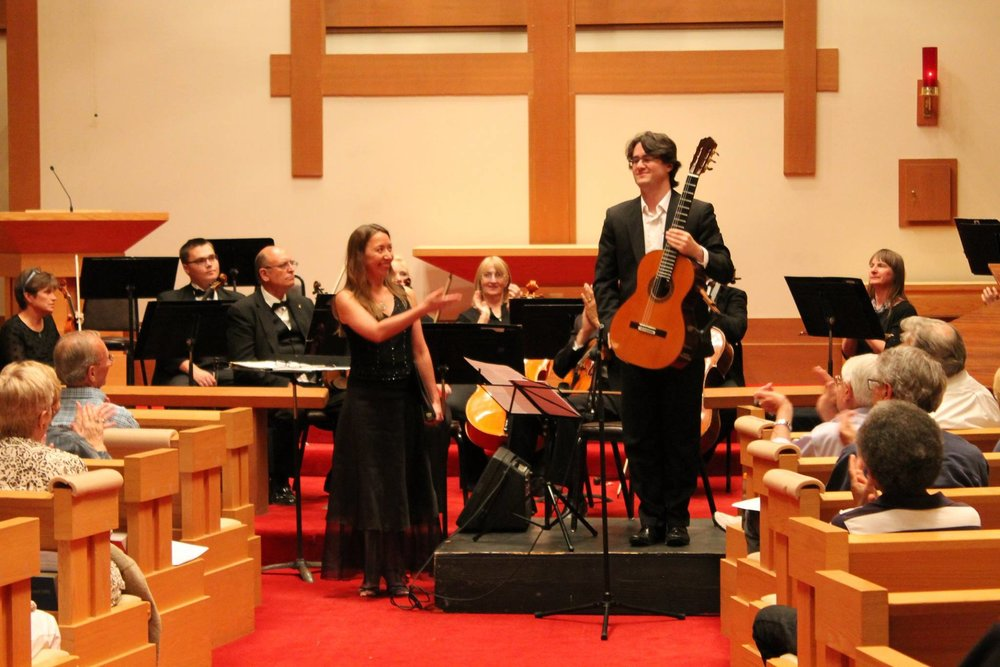 Performing with Tahoe Symphony and soprano Ania Helwig