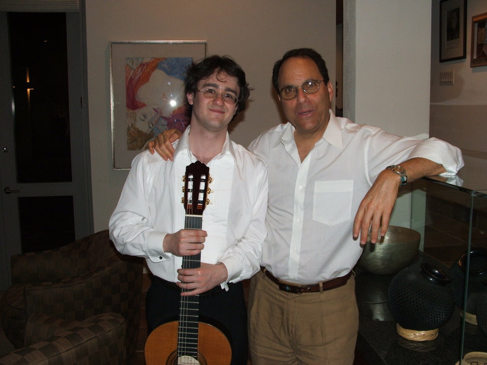 With composer Daniel Asia in Tucson, Arizona