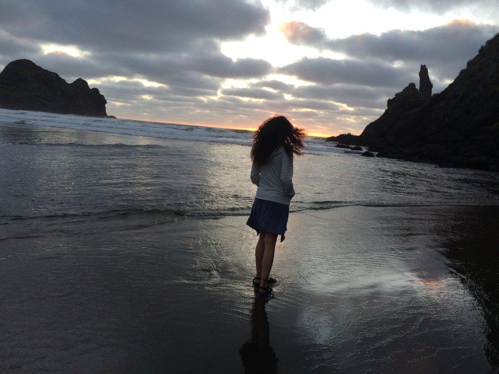 Erika at Lion Rock