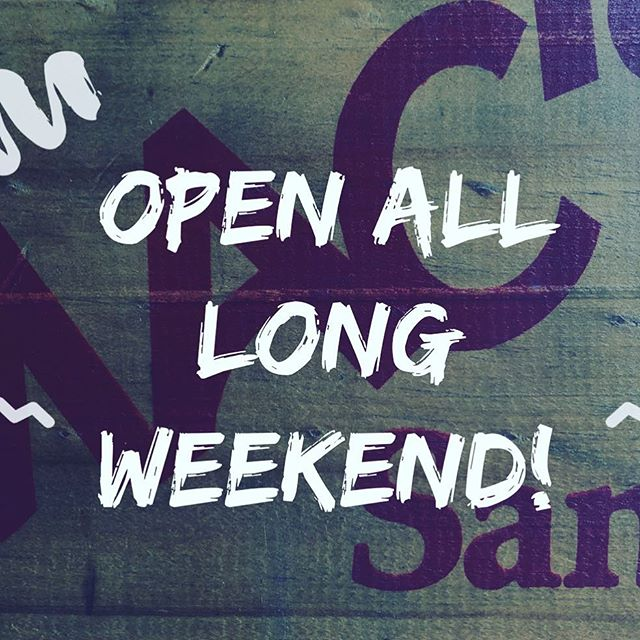 That's right, we're open as usual all long weekend! 🥙🏉