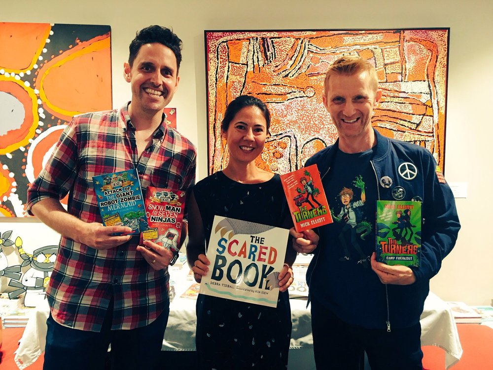 Matt Cosgrove, Kim Siew and Mick Elliott at Better Read Than Dead in Newtown
