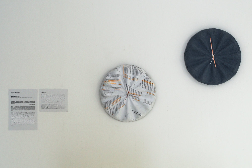 'META' Clock by Harriet Watts