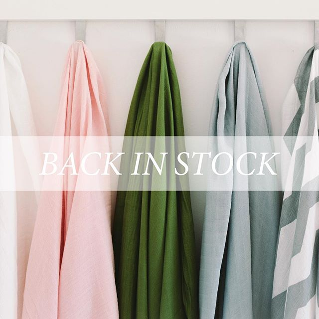 Our divine, hand dyed bamboo swaddles are back in very limited stock. Jump online to grab yours now & remember that $1 from your purchase is donated to the Miracle Babies foundation.