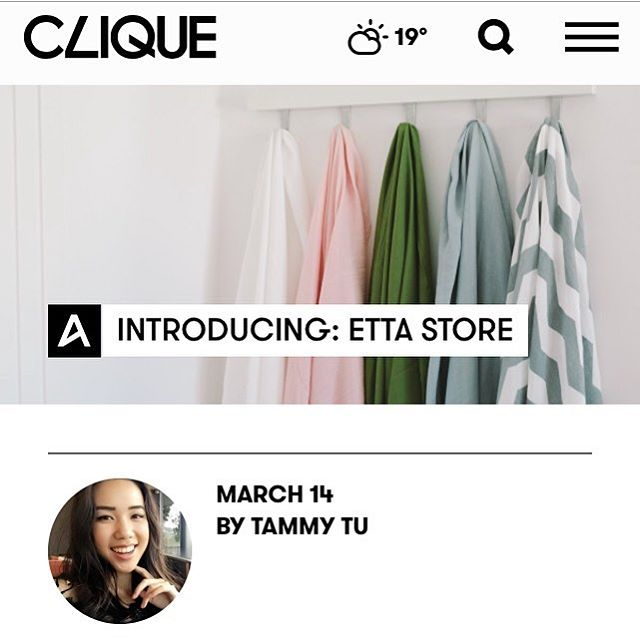 @etta_store was also featured in @cliquemagau for an interview with @taammytu recently! Some questions and answers on how we started out! Have a read, link in bio! Also featuring a gorgeous photo of us taken by the lovely @gajalk 😍