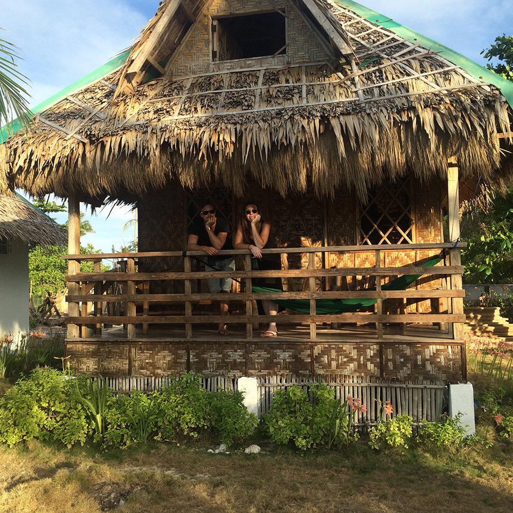 white sand bungalow