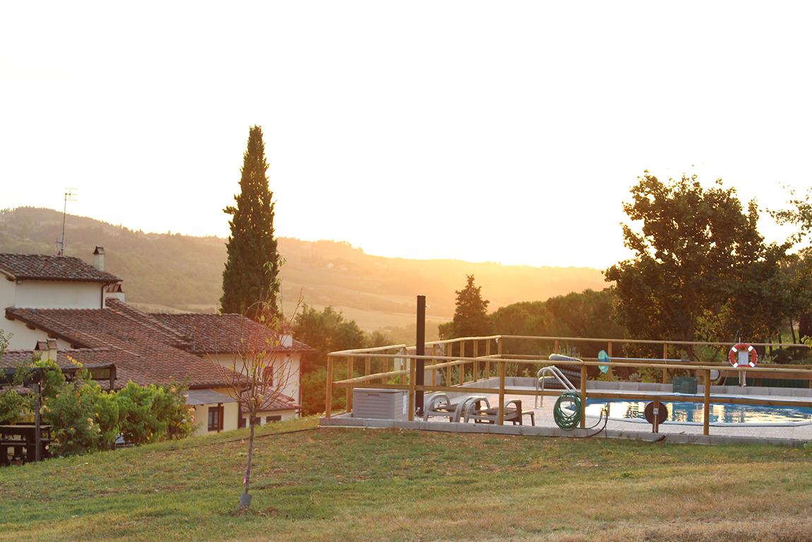 pool solnedgang