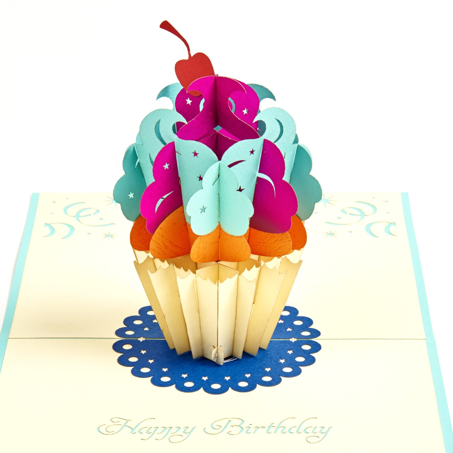 Happy Birthday Cup Cake Pop Up Card