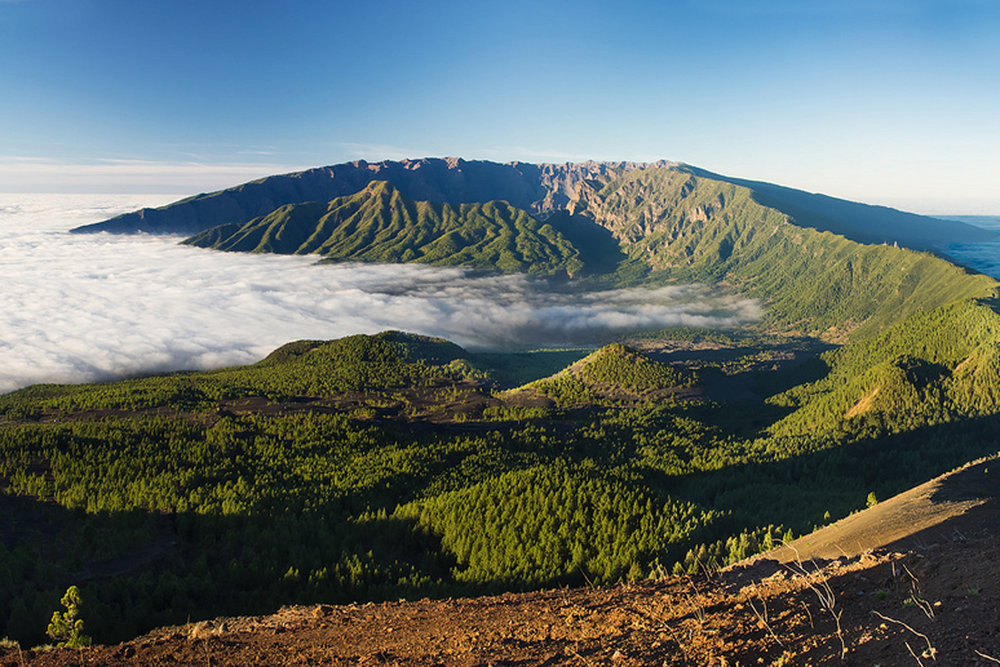 Above: Breathtaking scenery from La Palma's peaks.