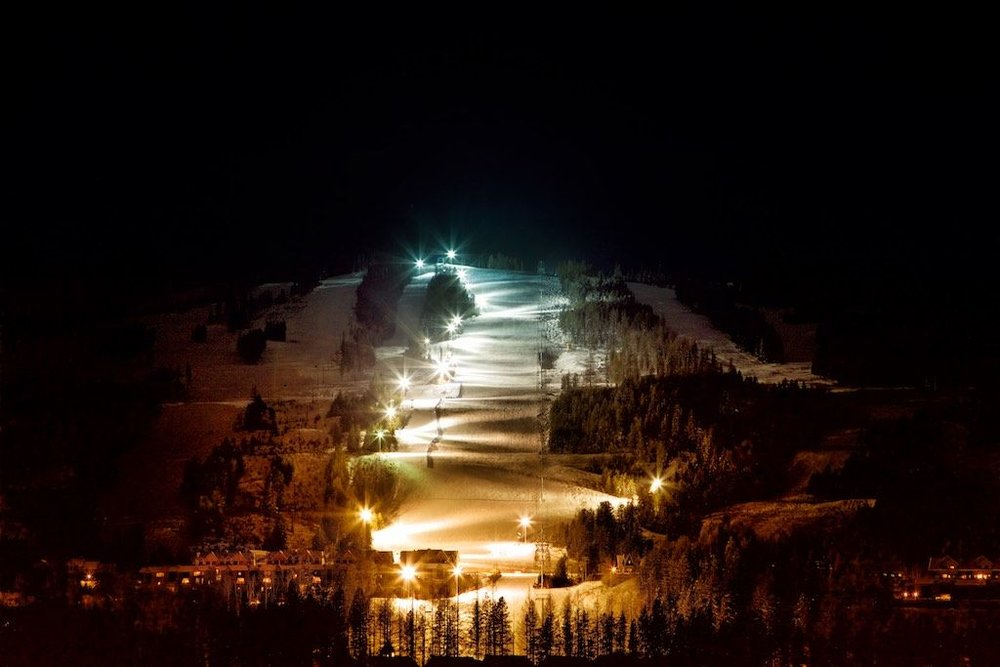 It's lit: Skiing long pistes isn't just a daytime activity at Kimberley.