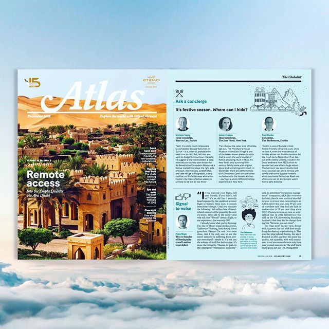 "This is your Captain speaking... @boutiqplaces have gone sky high. Catch our ""Signal to Noise"" guest article about real recommendations taking over outdated travel reviews on all Etihad flights, inside Atlas Magazine (look out for the digital link and a closer look in our next story vid 👀) #recosnotreviews"