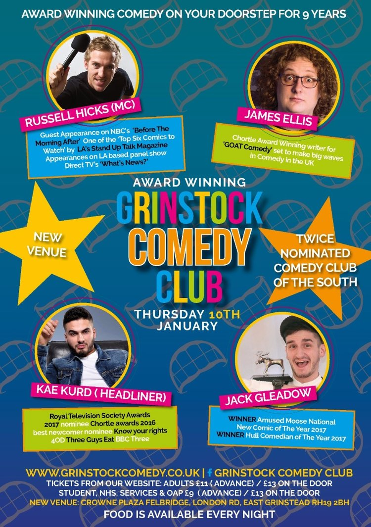 East Grinstead Comedy Events | Grinstock Comedy Club