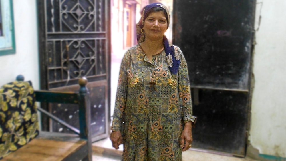 Nadia Gamal at her home in the Upper Egyptian governorate of Minya. Photo:Menna A.Farouk