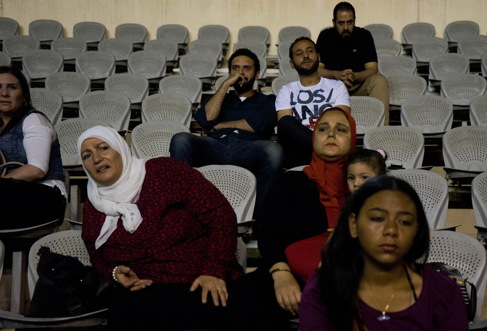 Family and friends watch the CaiRollers from the stands. While families are usually supportive, they have concerns about the women playing such an aggressive game, says Lina El-Gohary. Photo: Marwa Sameer Morgan