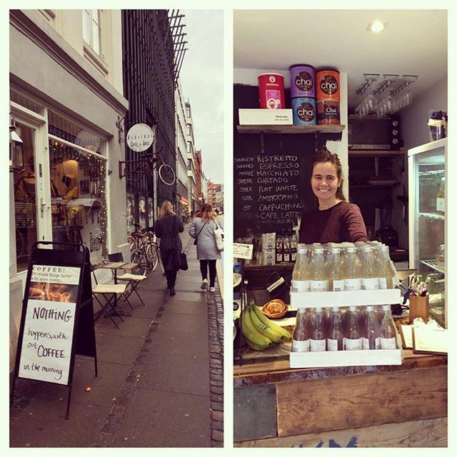 Ugen starter med friske forsyninger hos @heritagecoffeeandbikes 😉 Køb din Matcha Mint og Ener-Tea her og få en sludder med den søde Kristin ☕️😄🍵