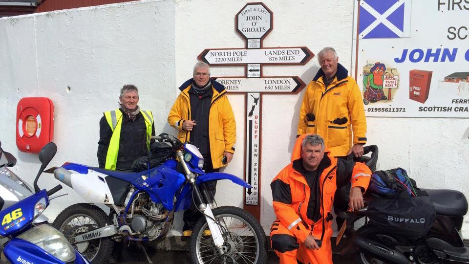 Johnny Mac's Scooter Adventure begins at John O'Groats
