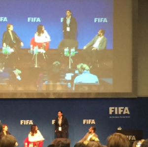 The Captain of the  Afghan  women's national   football   team Khalida Popal shared her fears, views and hopes for the future of Women's Football at the FIFA4Equality Conference on March 6