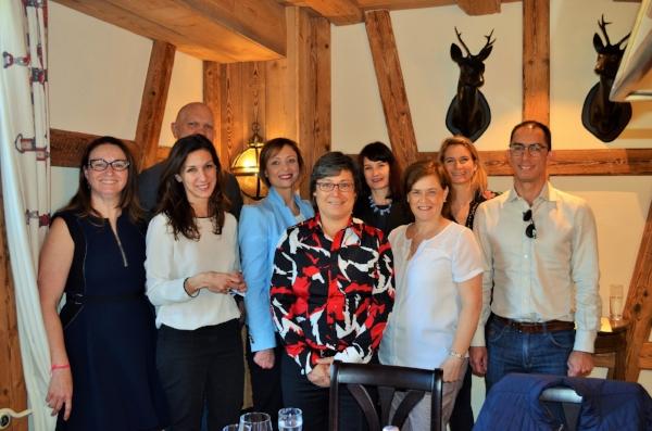 From left to right: Erika Montemor, Vincent Monnier, Despina Mavromati, Melanie Schärer, Moya Dodd, Kimberly Morris, Marisa Dominguez Rubio, Emily Shaw, Nerico Digues