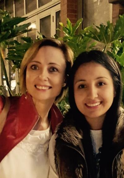 WISLaw Board Member Melanie Schärer (Switzerland) with WISLaw Member Elizabeth Gonzalez (Colombia)