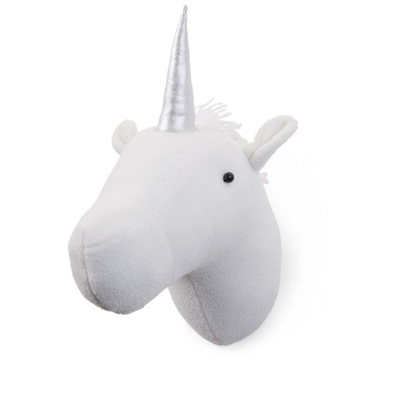 Cabeza decorativa Unicornio blanco