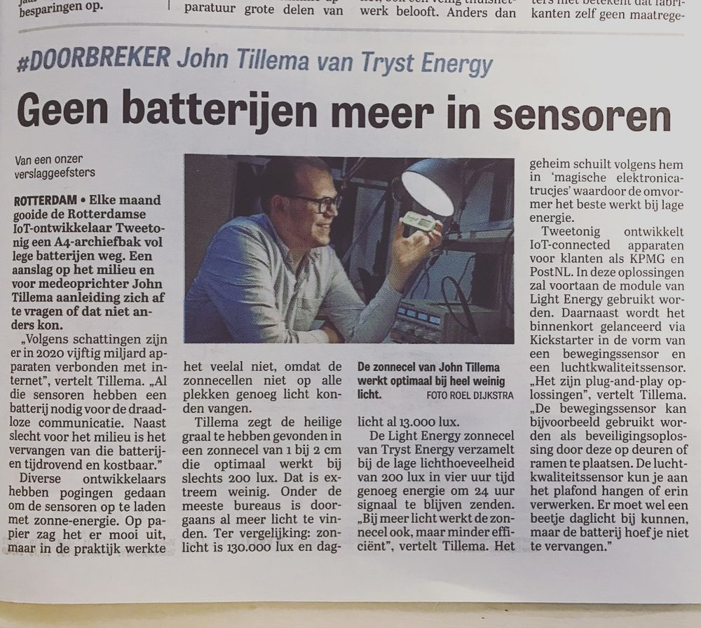 'No more batteries in sensors', by Gabi Ouwerkerk for DFT