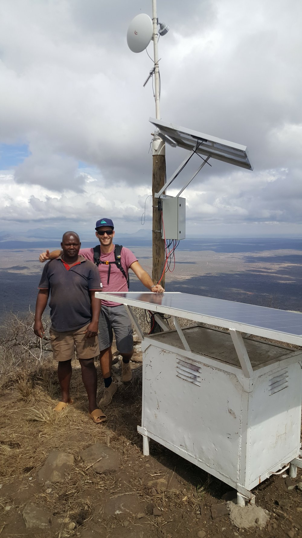 Our new friend Tim (Initiator @ The Internet Of Life) installing a LoRa network in Tanzania