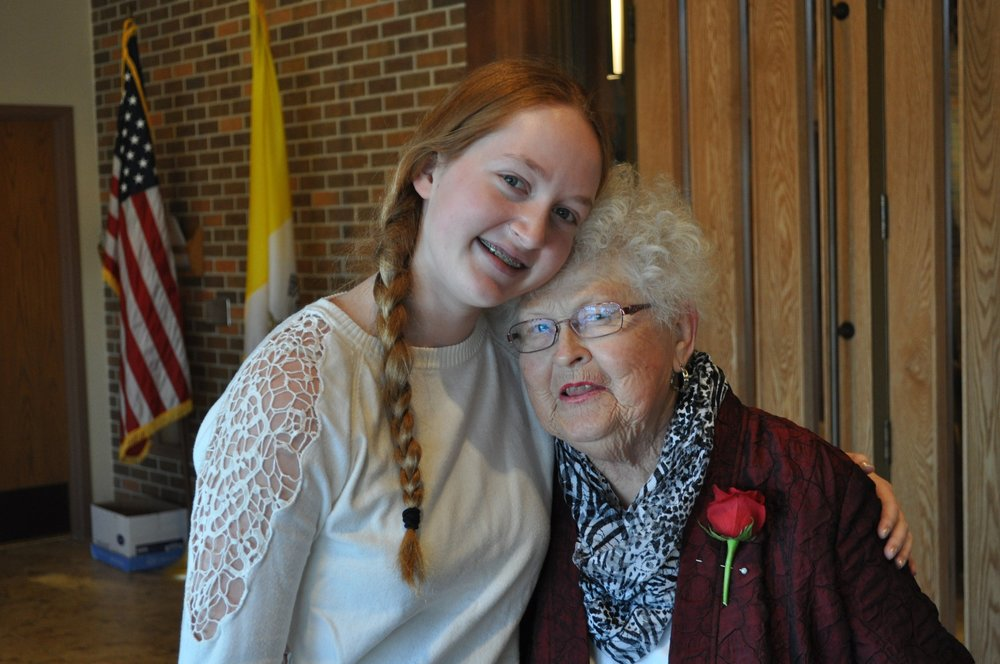 The two namesakes: hilda lorraine with granddaughter angela lorraine