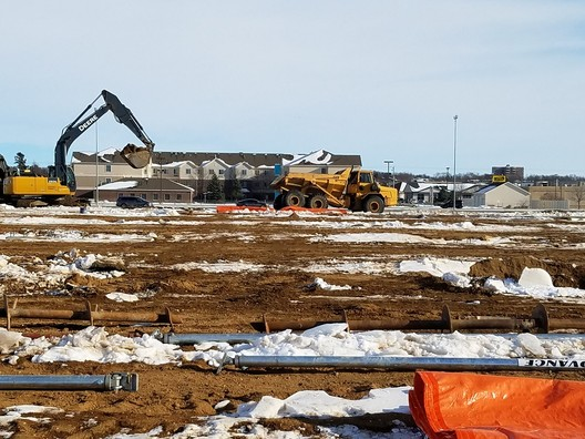 Construction view of The Shoppes
