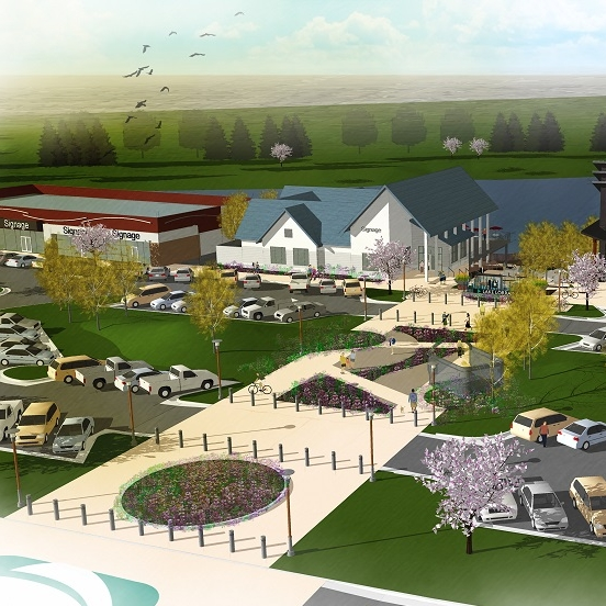 Artist Rendering of The Shoppes