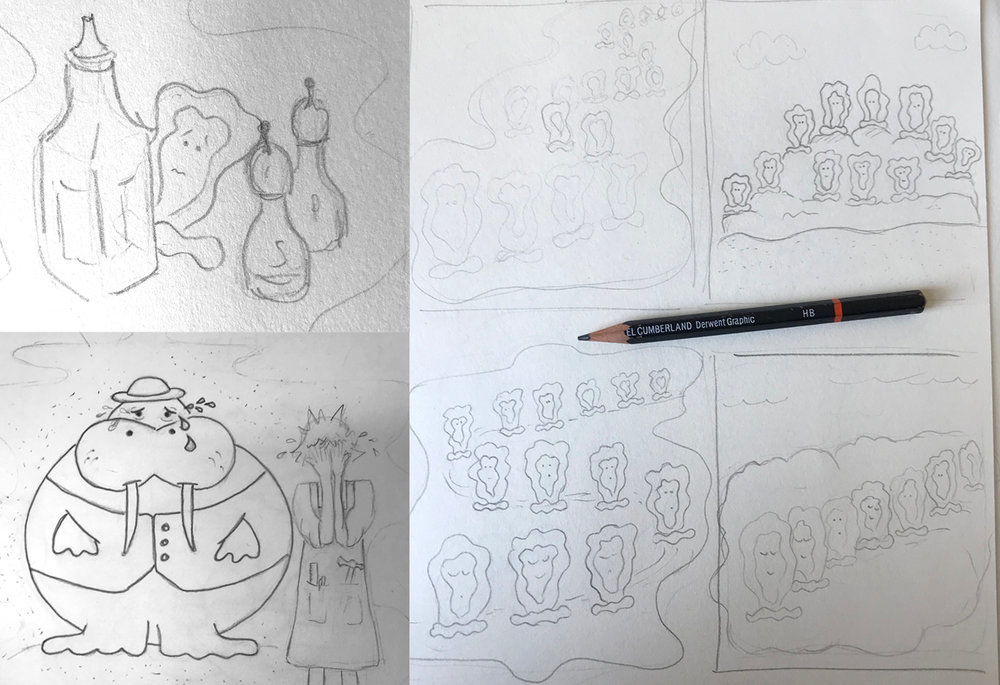 Some of my illustration concept sketches.