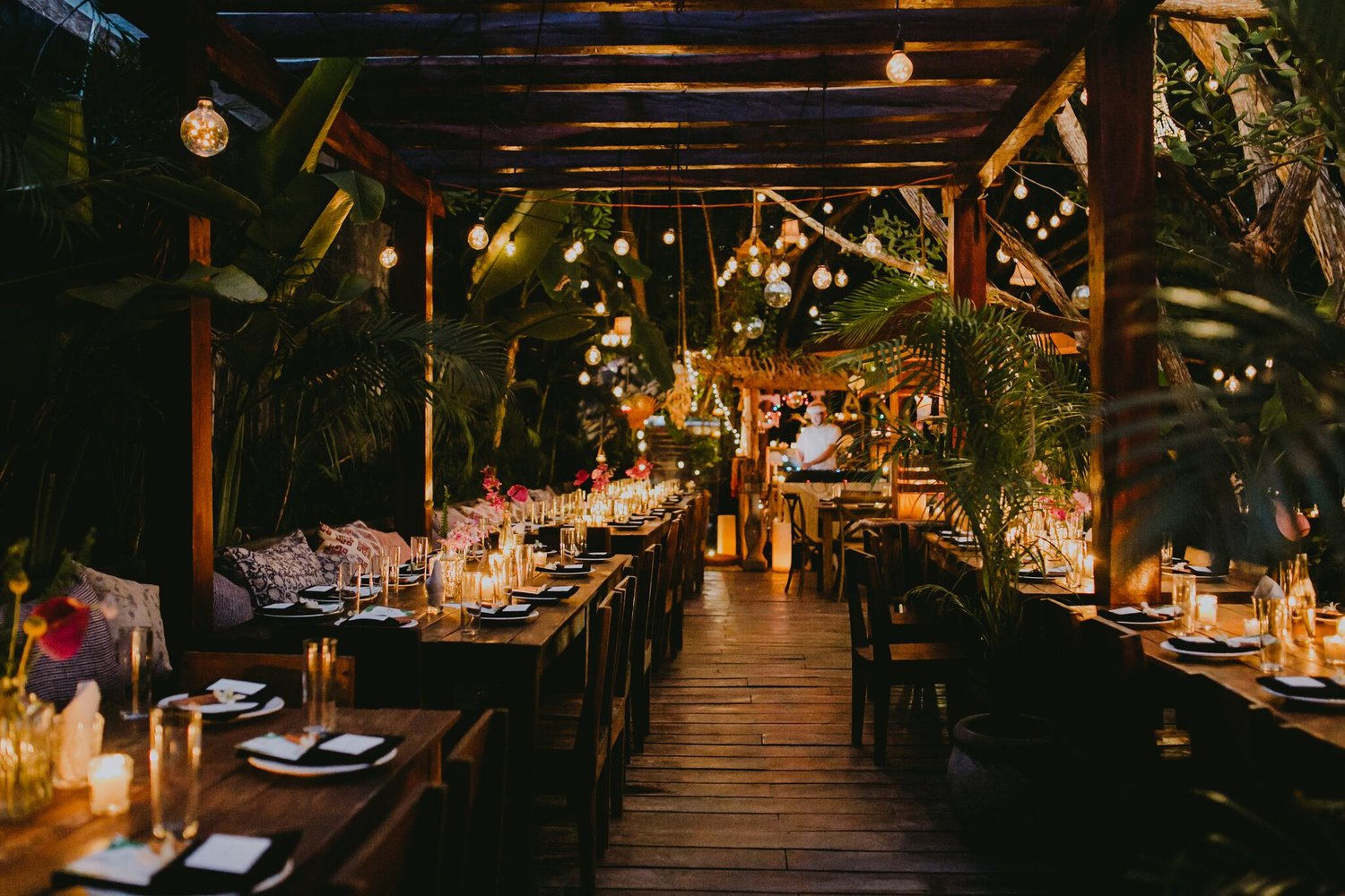 Gitano, a Tulum restaurant and bar and dance club with jungle disco balls