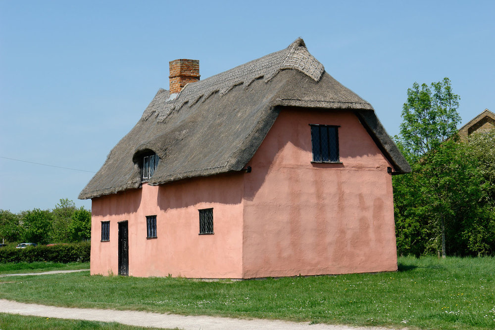Blunt's Cottage in its new home on Wat Tyler's Village Green