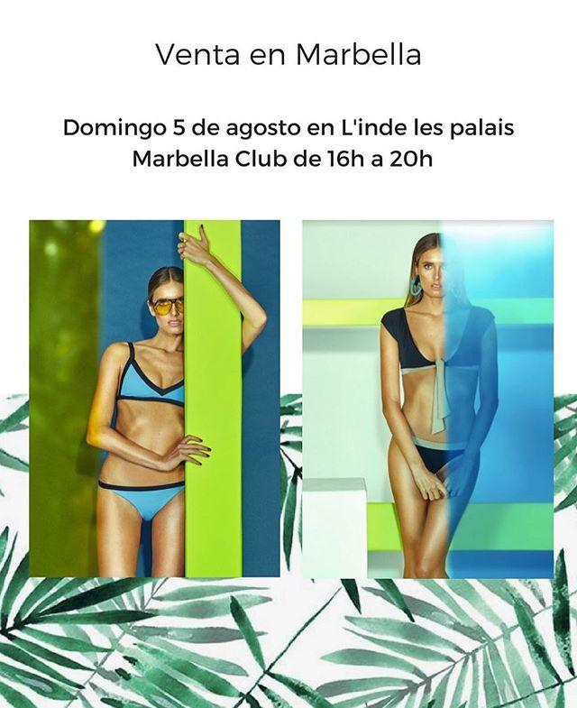 📣Venta en MARBELLA📣 Mañana domingo 5 de agosto en L'inde les palais en Marbella Club de 16h a 20h 👙🌴🦋