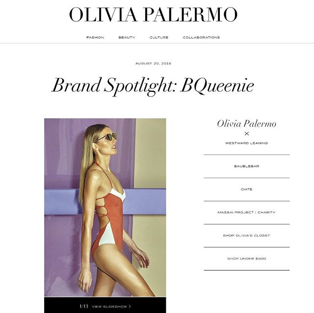 Este mes podéis encontrarnos en la web de @oliviapalermo thank you so much for choosing us 😘😘 Very proud 💥💥