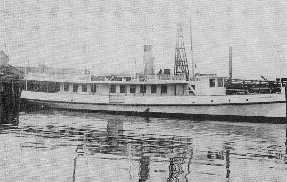 A broadside view of the Sagamore, used as the Bristol ferry.