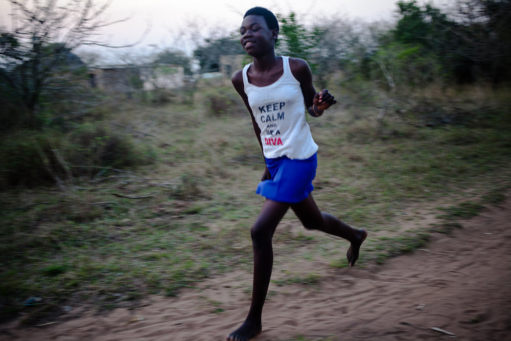 young gril running in KwaZuluNatal. 2014.jpg