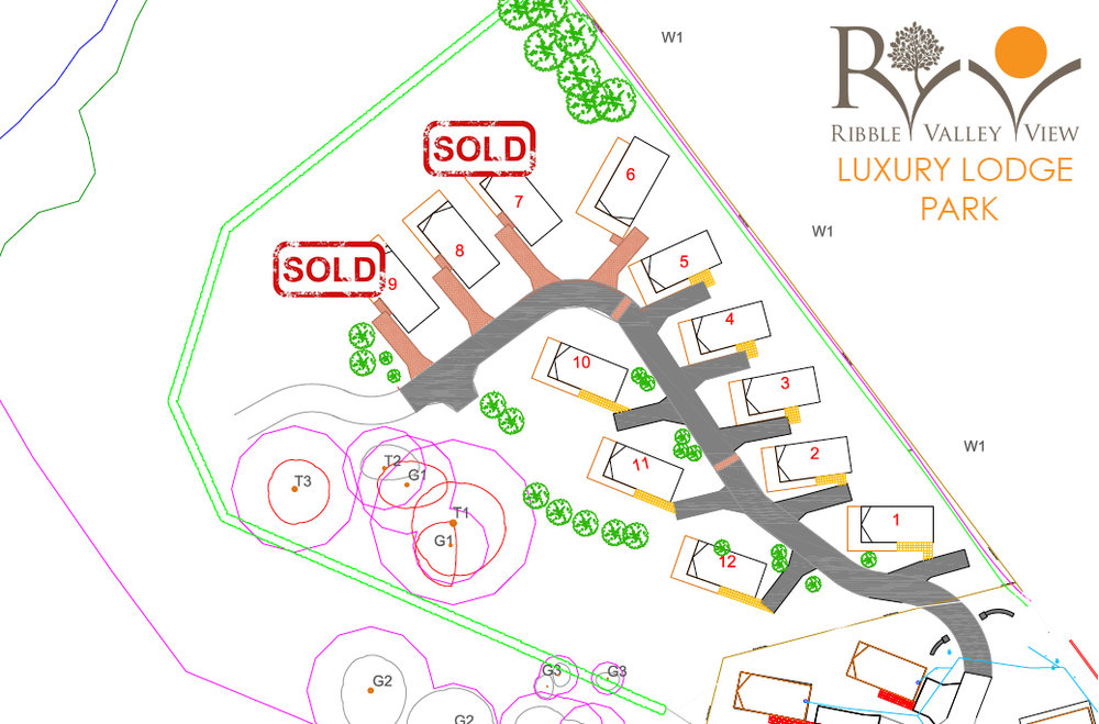 Ribble Valley View Phase 2 Plan - JUST 4 of the lodges are being sold.