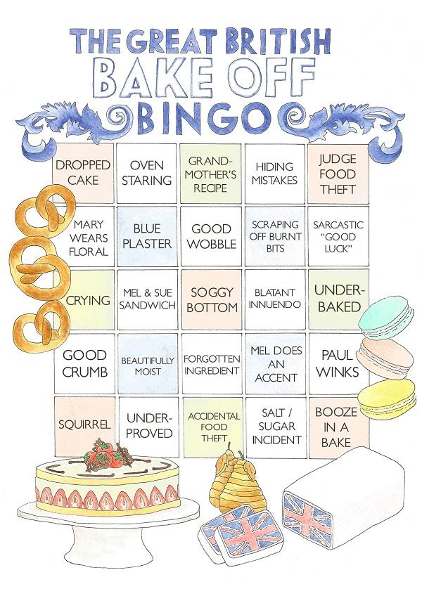GBBO Bingo Card
