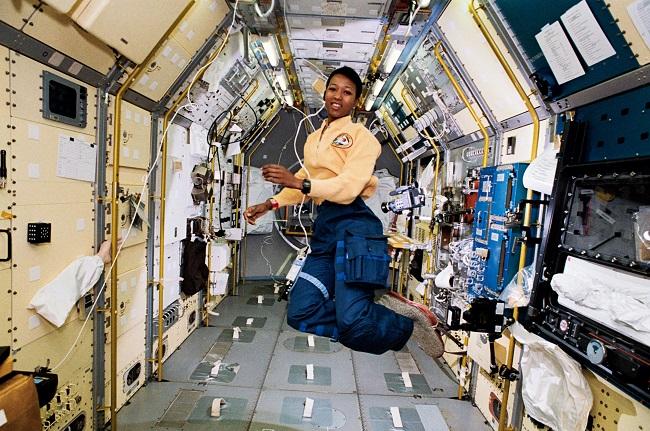 Image from:http://upload.wikimedia.org/wikipedia/en/1/1f/Mae_Jemison_in_Space.jpg