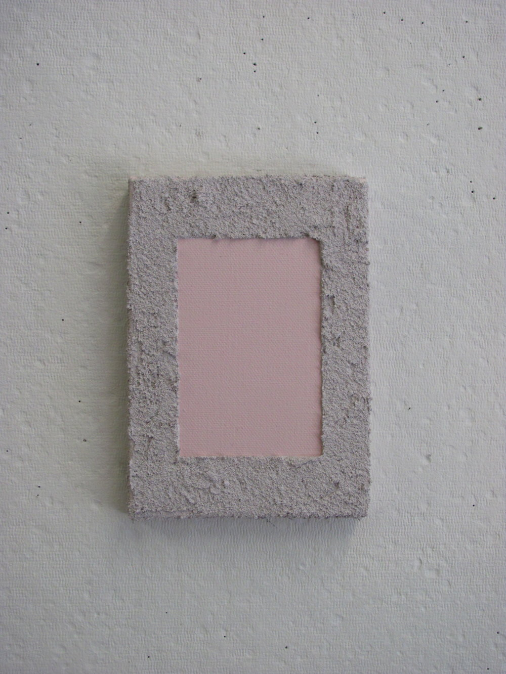 "Pink covered by a sandy lighter pink, 5""x7"""