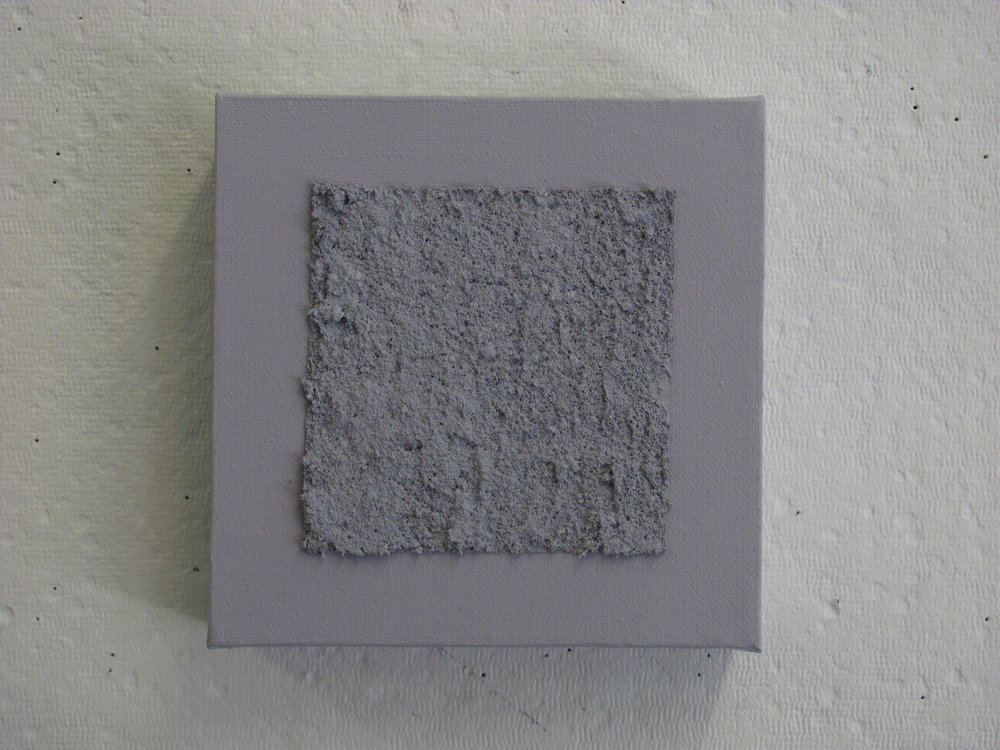 "Sandy light grey on light grey, 6""x6"""