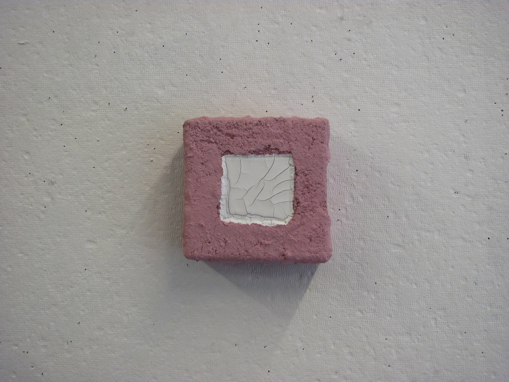 "White pour in sandy pink, 4""x4"""