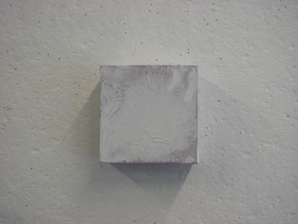 "White cotton texture over purple, 4""x4"""