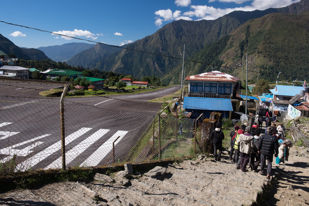 This photo was actually taken after the trek, when leaving through Lukla. But placing it here just to group all the Lukla airport photos together.