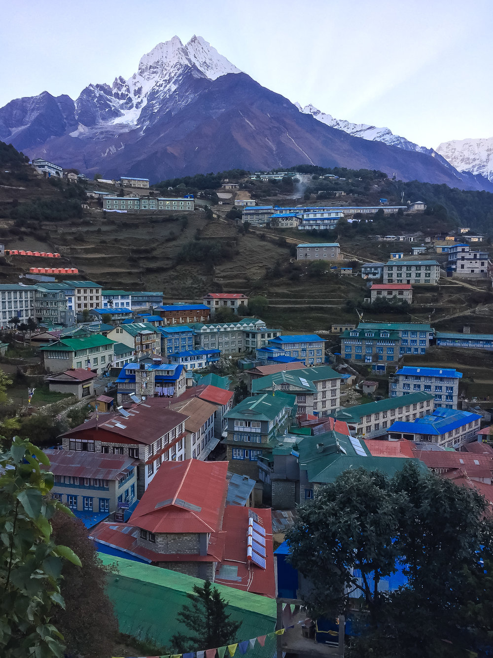 Leaving Namche Bazaar for one last time
