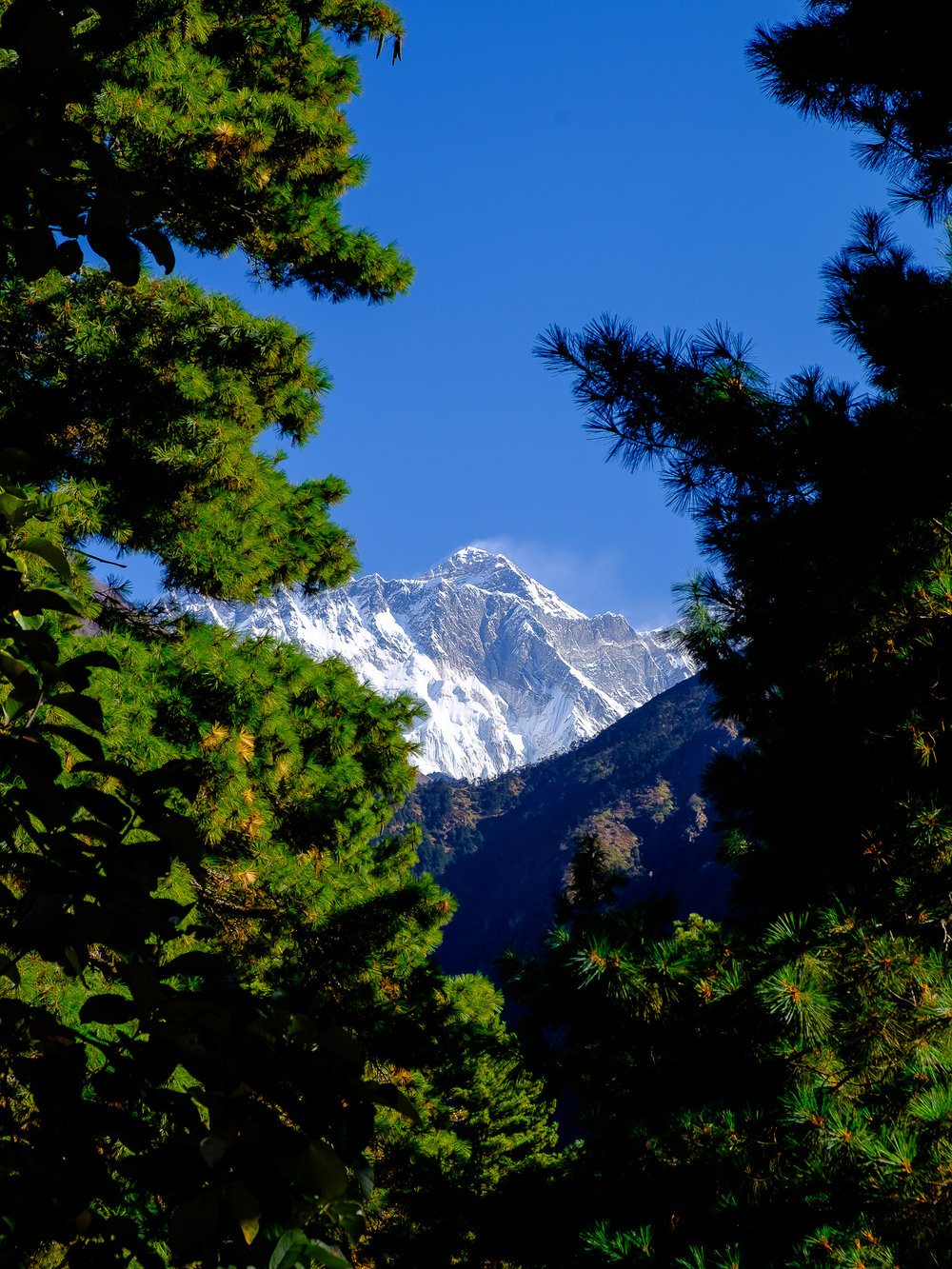 Last viewpoint where Everest was still visible