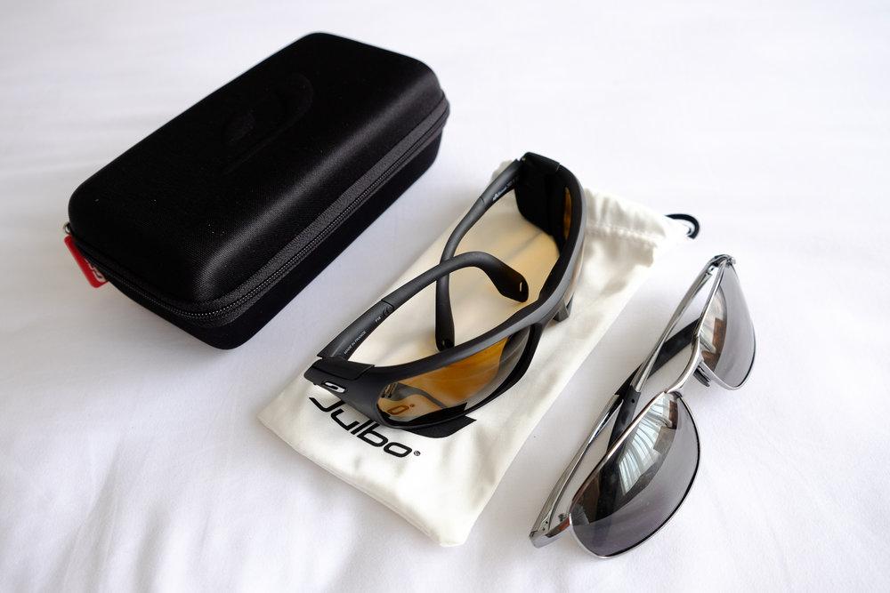 Julbo Bivouak Camel sunglasses  &  Flying Fisherman San Jose sunglasses